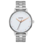 Nixon The Kensington Womens Watch Silver Wht Rose Gold
