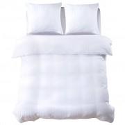 vidaXL Спално бельо от 3 части памучен сатен 200x200/60x70 см бяло