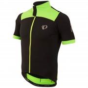 Pearl Izumi Pro Pursuit Wind Short Sleeve Jersey - Black/Screaming Green - L - Black/Green
