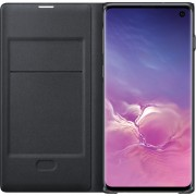 Samsung Galaxy S10 LED View Cover Book Case Zwart