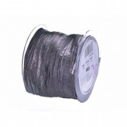 Szalag textil 75mmx15m sötét ezüst Samba