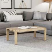 vidaXL Mesa de centro em madeira acácia maciça escovada 110x60x40 cm