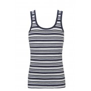 Ten Cate Boys Basic Shirt Donker Blauw Gestreept-152