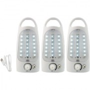 X-EON Sign-786 18SMD Rechargeable Emergency Light - Portable 10W(Made in India) -Mix Colour (Pack of 3)