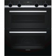 Siemens IQ-500 NB535ABS0B Built Under Double Oven - Stainless Steel - A/B Rated
