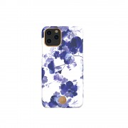 KINGXBAR Flower Series PC Phone Cover with Magnetic Sheet for Apple iPhone 11 6.1 inch - Orchid