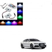 Auto Addict Car 12 LED RGB Roof Light with IR Remote Car Fancy Lights For Audi A7