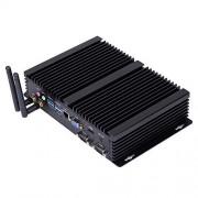 HUNSN Fanless Industrial PC,Mini Computer,Windows 7/10 Pro/Linux Ubuntu,Intel Core I5 4200U,(Black), IM03,[64Bit/Dual Band WiFi/1VGA/1HDMI/3USB2.0/4USB3.0/1LAN/2COM],(16G RAM/128G SSD)