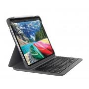 Logitech Slim Folio Pro Custodia Tastiera Retroilluminato Bluetooth Italiano per Apple 12,9'' iPad Pro Graphite