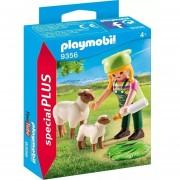 Playmobil Special Plus - Granjera Con Ovejas - 9356