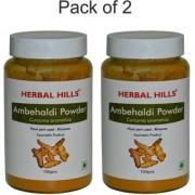 Herbal Hills Amba Haldi (Curcuma Amada) Powder 100gms - Pack of 2 - For Skin inflammation