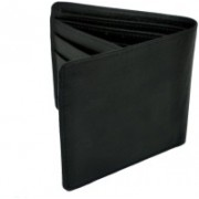 HALO NATION Men Black Artificial Leather Wallet(9 Card Slots)