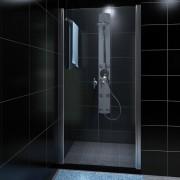vidaXL Sprchové skleněné dveře 80cm