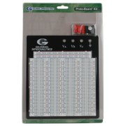 Global Specialties PB-104E Externally Powered Breadboard with Metal Back Plate, 3060 Tie-point