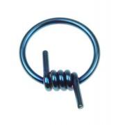 Metallic Blå Taggtråd - BCR Piercing