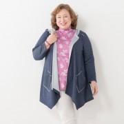 MNKスクエアヘムパーカー【QVC】40代・50代レディースファッション