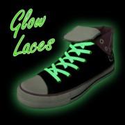 Svítící tkaničky - zelené - DOPRODEJ