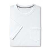ランズエンド LANDS' END メンズ・スーパーT/スリムフィット/ポケット付き/半袖/Tシャツ(ホワイト)