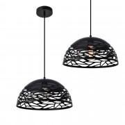 [lux.pro]® Lámpara de techo de diseño con motivos negra - look industrial (E27)