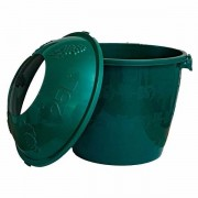Cos damigeana 25 litri din plastic verde