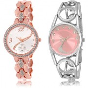 The Shopoholic Silver Pink Combo Fashionable Funky Look Silver And Pink Dial Analog Watch For Girls Watch Girl