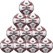 molten Fußballpaket (10 Stück) F5V3329-R (290g) - weiß/rot/silber |