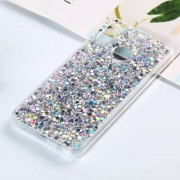 Colorful Glitter Powder Style Protective Soft Cover for Huawei P20 Lite / Nova 3e (Silver)