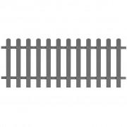 vidaXL Gard din șipci, lemn compozit, 200x80 cm, gri