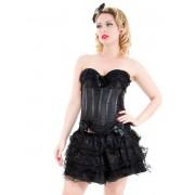 corset a fustă femei INIMI ȘI ROSES - Negru Corset Cu fustă - 8068black