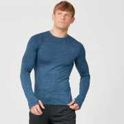 Myprotein Sculpt bezešvé tričko s dlouhým rukávem - XS - Petrol Blue