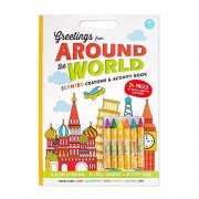 Scent Masters Around The World Activity Book - 24 Page Coloring and Activity Book with Gourmet Scented Crayons