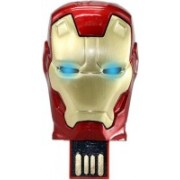 DARK EDGE Iron Man Head 16 Gb Usb Pen Drive Metal Face With Glowing Led Eyes 16 Pen Drive(Red, Gold)