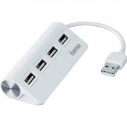 4-portni USB 2.0 hub 12178 Hama bijela