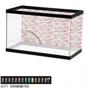 ScottDecor Colorido, calcomanía para acuario, papel pintado decorativo, diseño de gotas artísticas, color6, W35.8xH16.14