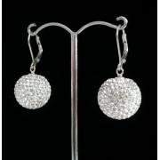 Lafira stříbrné náušnice Swarovski Ball Crystal 019