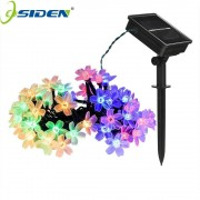 OSIDEN 100 LED Solar String Flowers Fairy Lights Waterproof Outdoor Solar String Lights Decorated Garden Christmas Holiday light