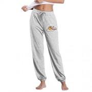 Bhuit Gudetama Pantalones Largos Modales con cordón para Mujer, Sueltos, para Yoga, Correr, Deporte, Gris, M
