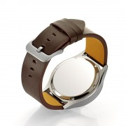 Genuine Leather Smart Watch Band for Samsung Gear S3 Classic/Frontier - Brown