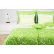 1 Glamonde Povlečení kruhy Airy zelená 70×90 cm 140×200 cm zipové