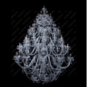 Lustra XXL cristal Bohemia L11 006/78/1-A; SILVER