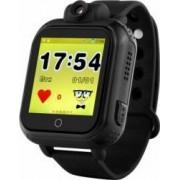 Ceas smartwatch 3G pentru copii Wonlex GW1000 cu aplicatii chat, camera si buton SOS, compatibil Digi negru
