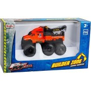 Maisto Fresh Metal Builder Zone Quarry Monsters Road Service Orange Tow Truck