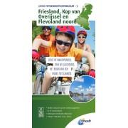 Fietskaart 2 Knooppuntenkaart Friesland, Kop van Overijssel en Flevoland noord | ANWB Media