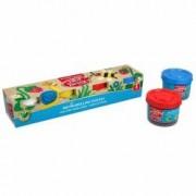 Plastilina BIO cu aloe vera in culori primare ErichKrause 4 x 35 gr. + Mini Cuburi Cadou