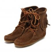 【SALE 10%OFF】ミネトンカ MINNETONKA Tranmer Ankle Hi Boot (DUSTY BROWN) レディース