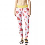 adidas Women's Stellasport Printed Gym Tights - White/Pink - XS/UK 4-6 - White