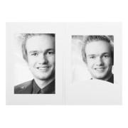 1x100 Daiber Portrait folders w. passepartout 13x18 white silk
