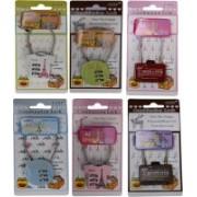 13-HI-13 3 Digit Bag Safty Lock Set of 2 (Mulitcolor) Safety Lock(Multicolor)