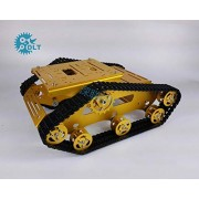 Generic TR300 Tracked Tank Bottom Board Intelligent Vehicle Robot Cross-Country Obstacle Crossing Yellow