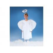 Fehér angyal jelmez 5-6 éves kislányoknak, 112-116cm